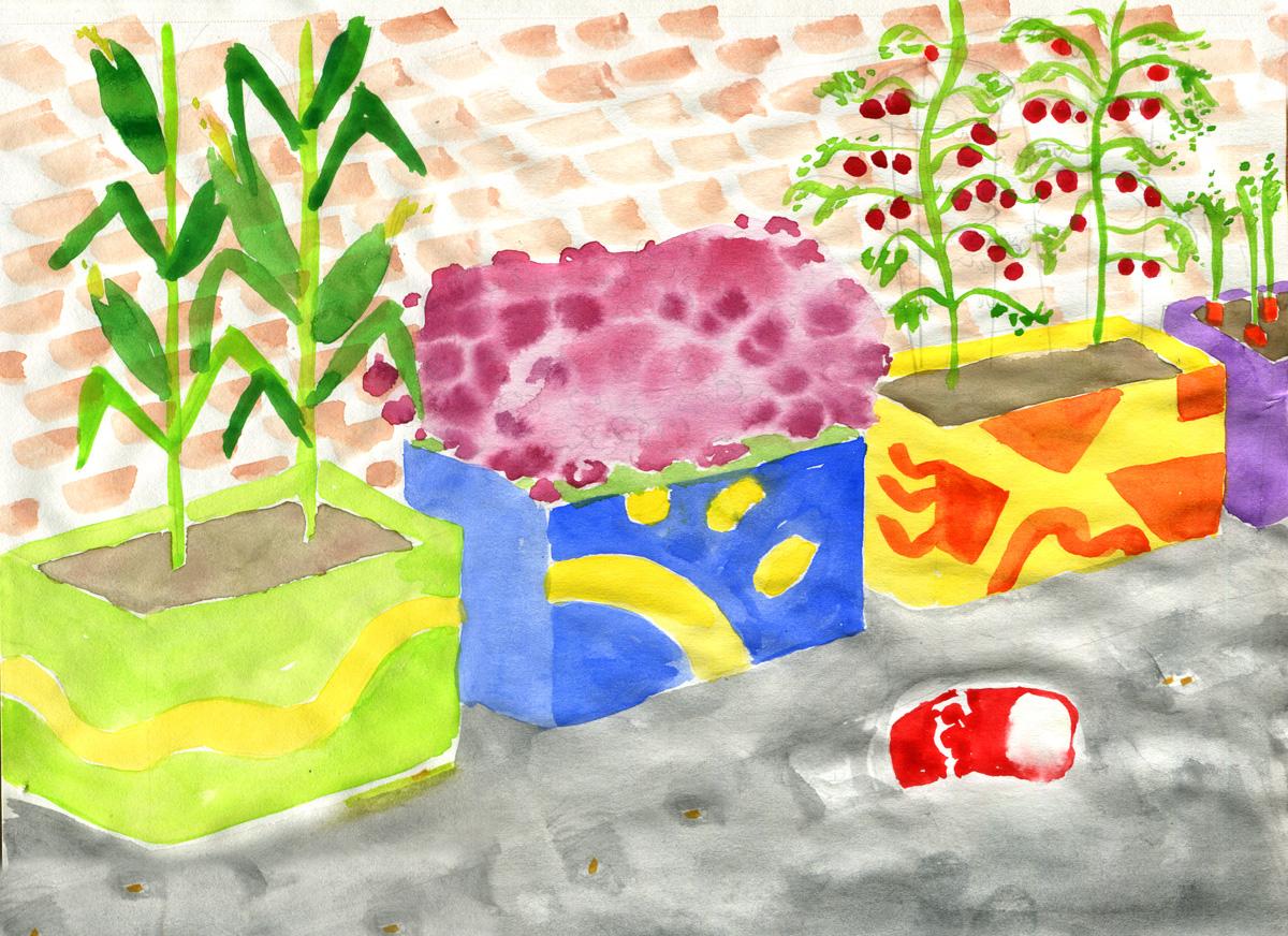 Atelier boîte à fleurs et jardinage
