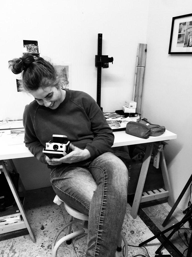 Photographie d'atelier de Valérie St-Pierre